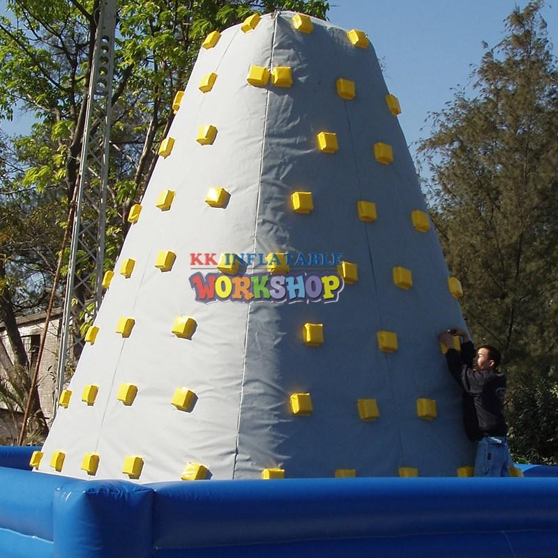 KK INFLATABLE giant kids climbing wall factory direct for entertainment