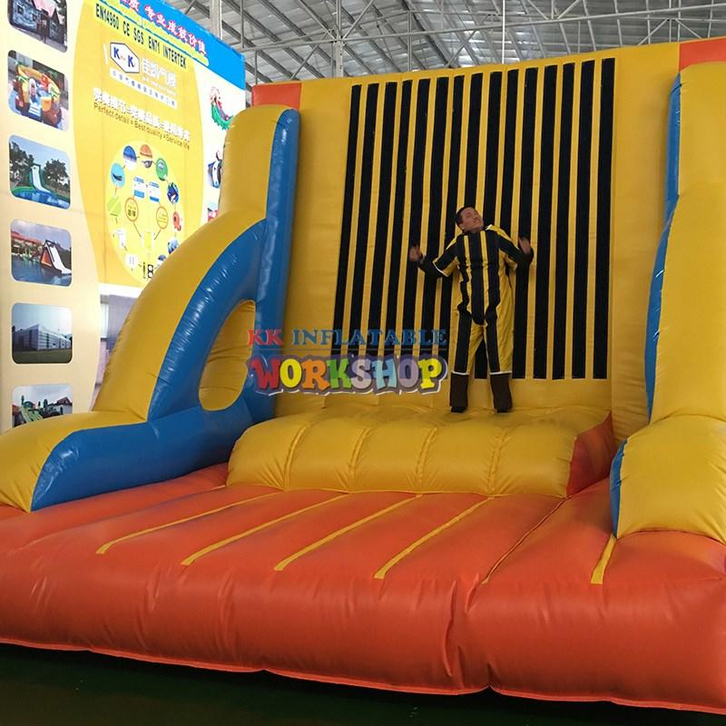 KK INFLATABLE Brand rock park produced kid kids climbing wall