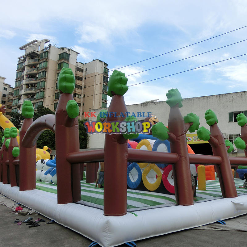 Inflatable Sports Forest Adventure Slide