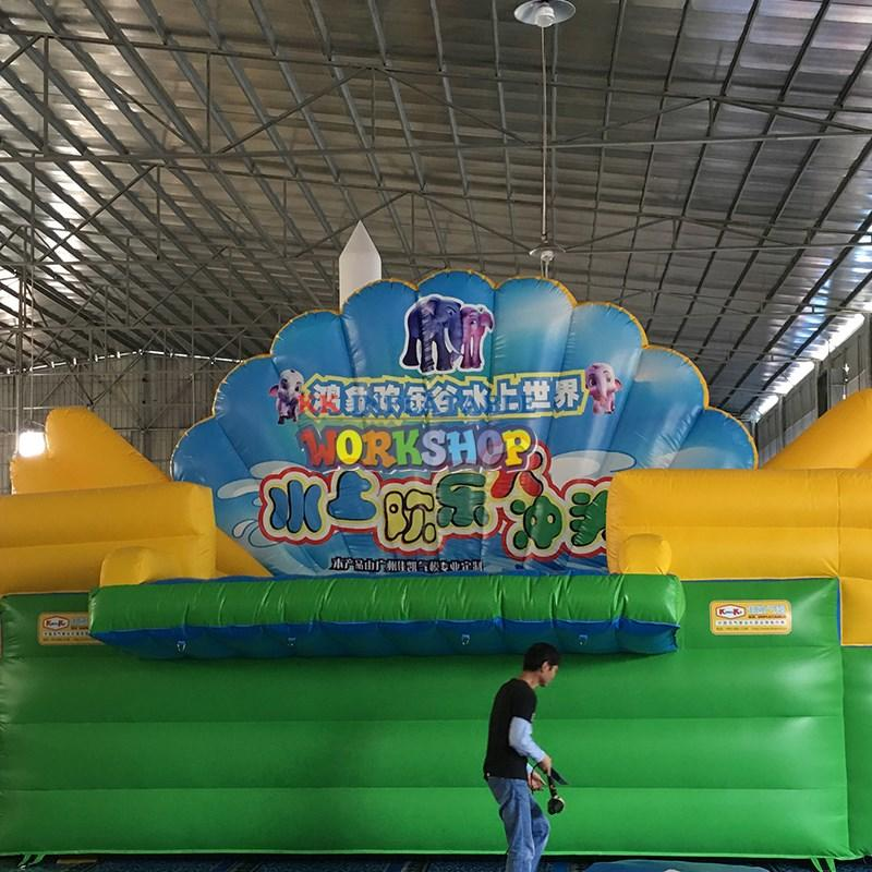 Hot kids climbing wall park KK INFLATABLE Brand