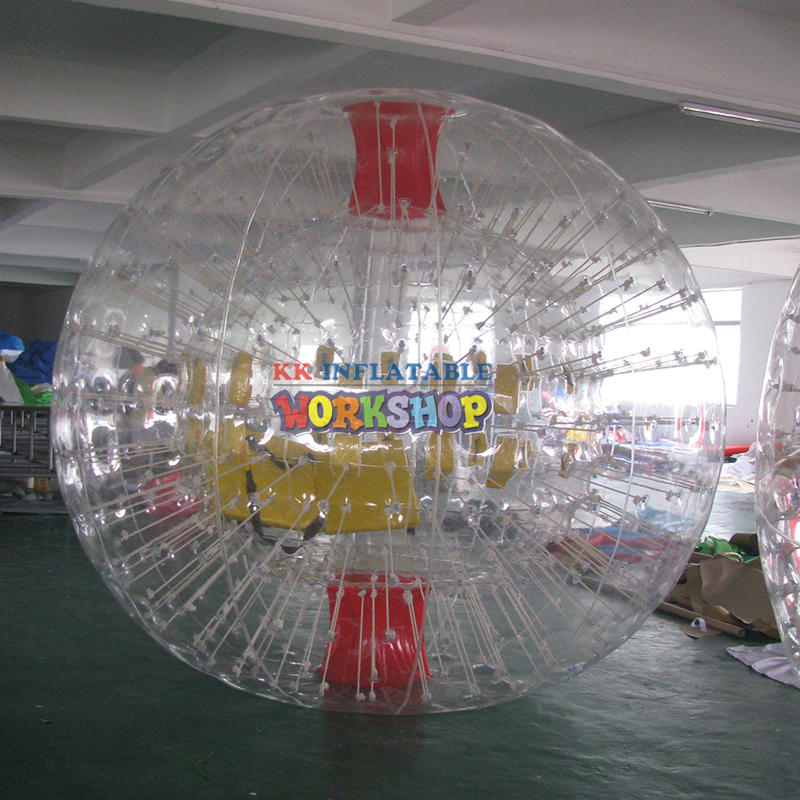 Inflatable transparent collision ball game