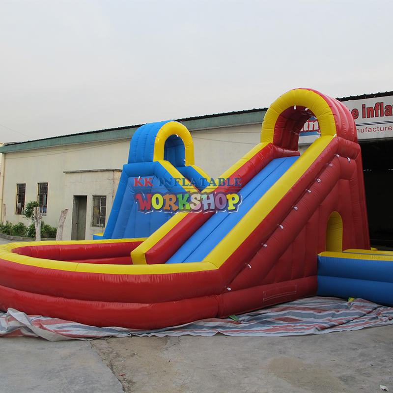 Cross inflatable water slide