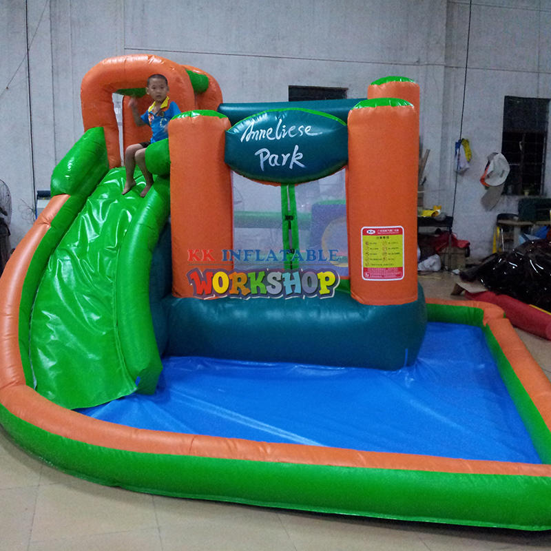 small inflatable pool slide