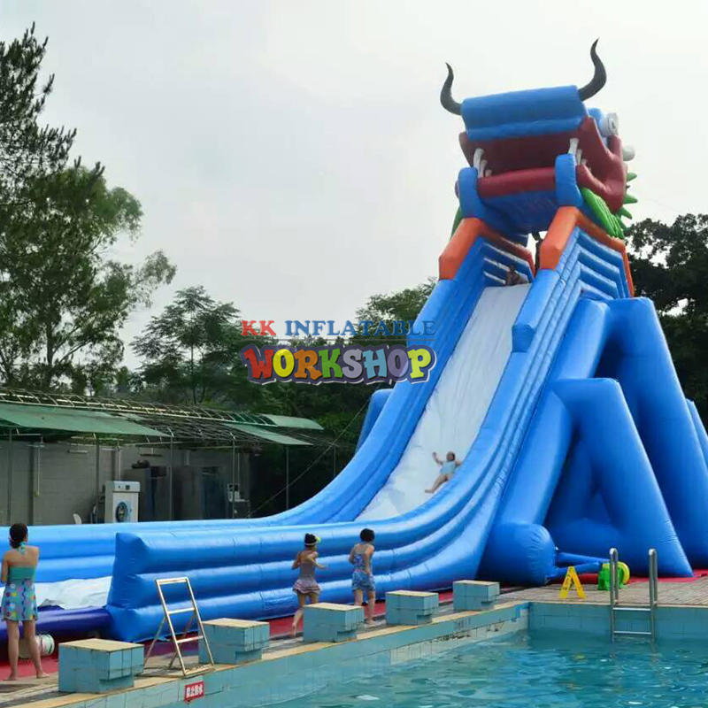 large inflatable pool slides