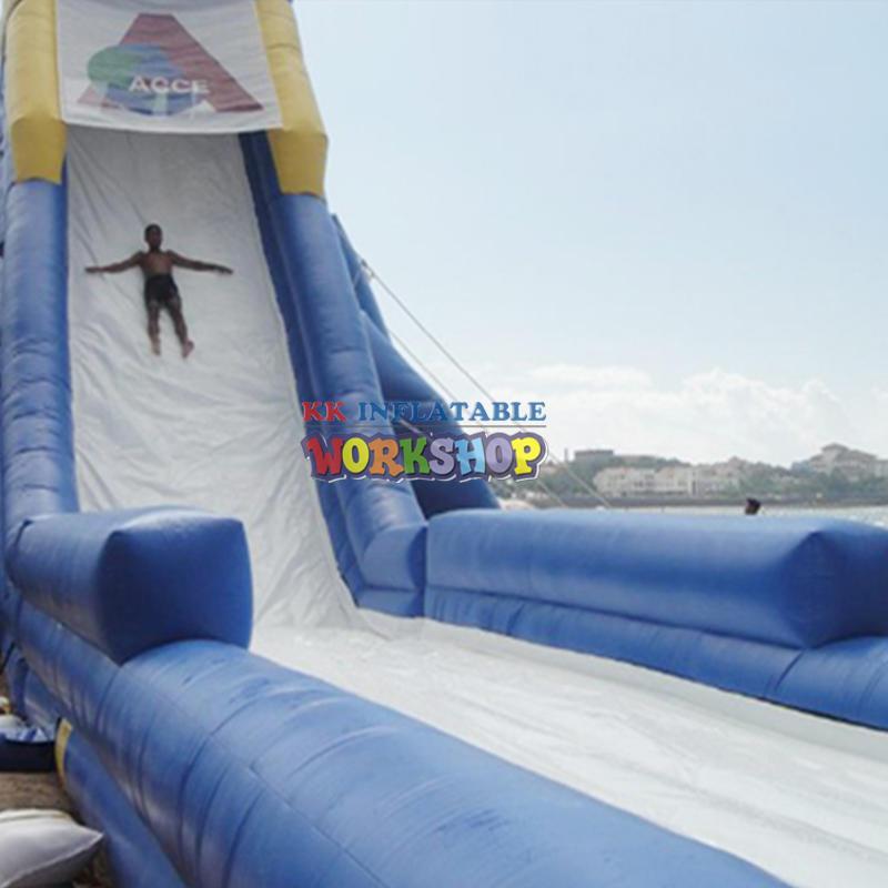 large inflatable pool slides