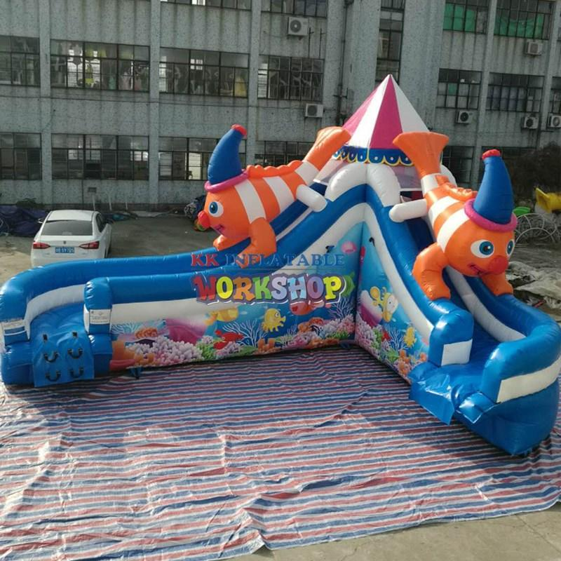 creative blow up water slide colorful for playground