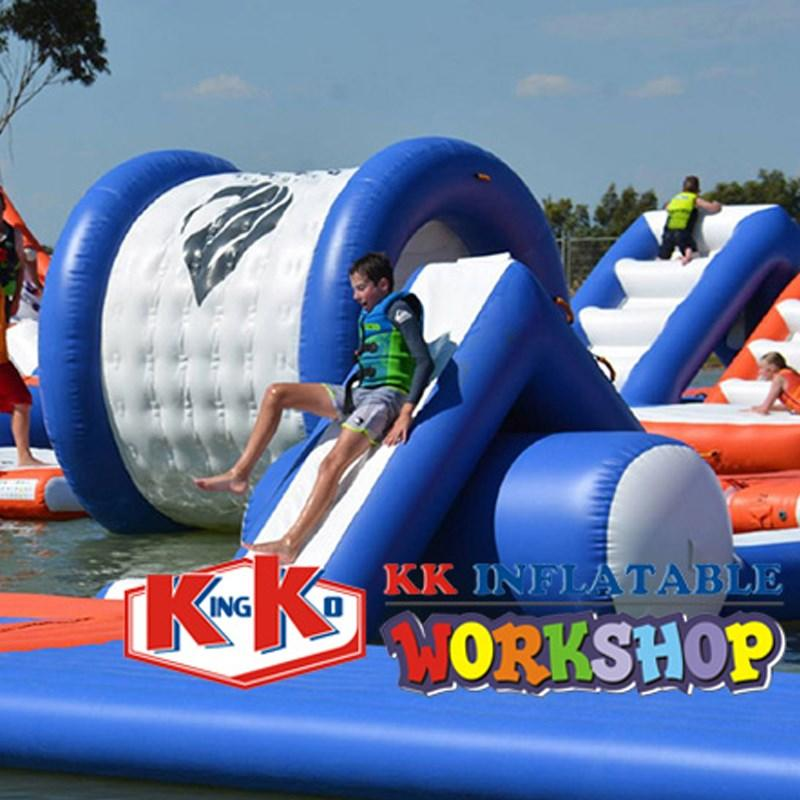 dinosaur kids inflatable water park rainbow for seaside KK INFLATABLE