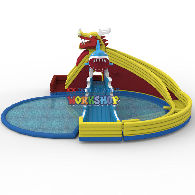 Inflatable Dragon Shark Water Park