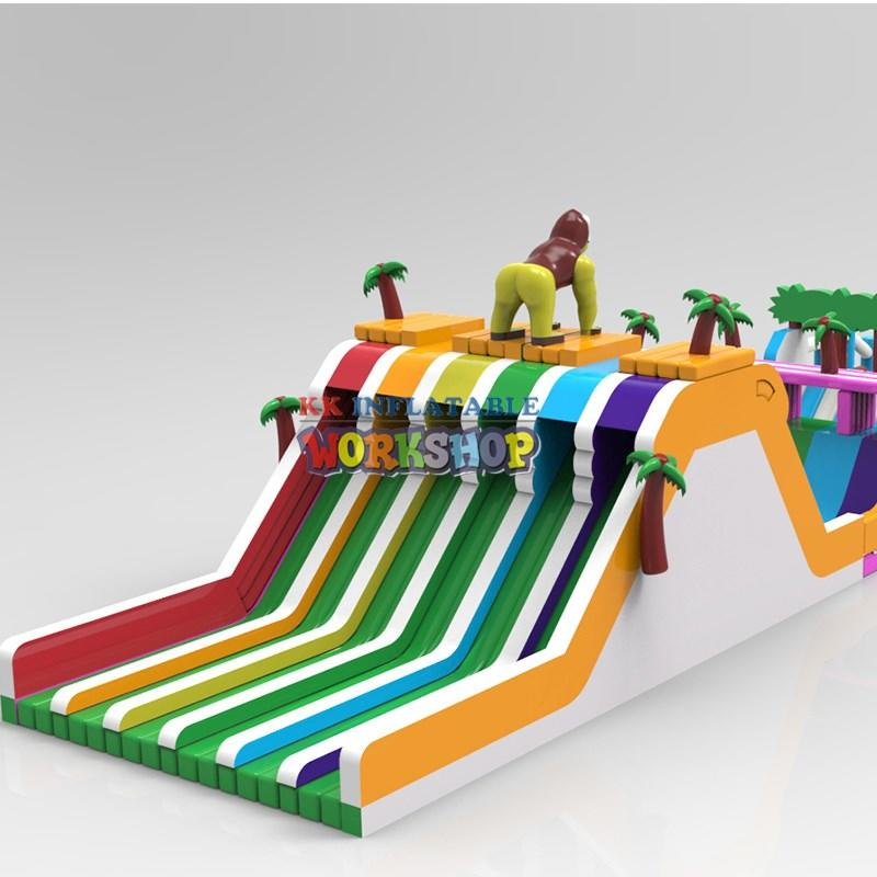 dinosaur inflatable water playground supplier for amusement park KK INFLATABLE