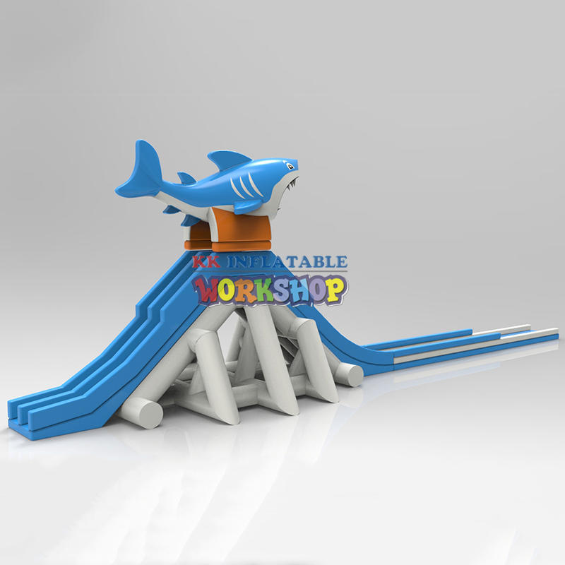 KK INFLATABLE rainbow kids inflatable water park animal modelling for beach