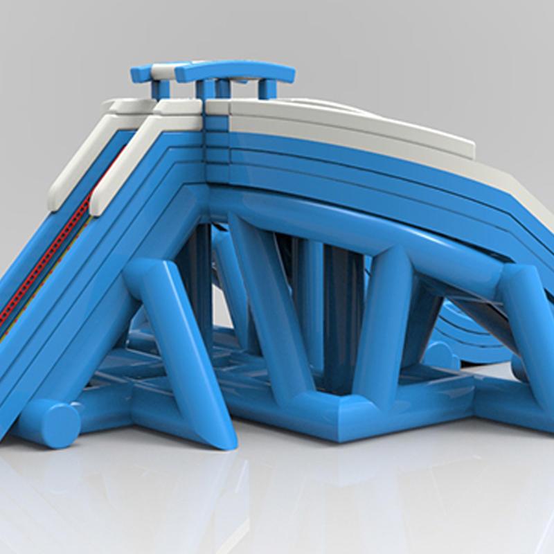 0.55 MM PVC Tarpaulin Inflatable Hippo Water Slide Big Water Slides For Kids