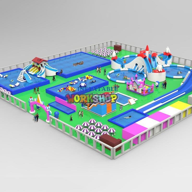 cartoon inflatable water parks manufacturer for amusement park KK INFLATABLE