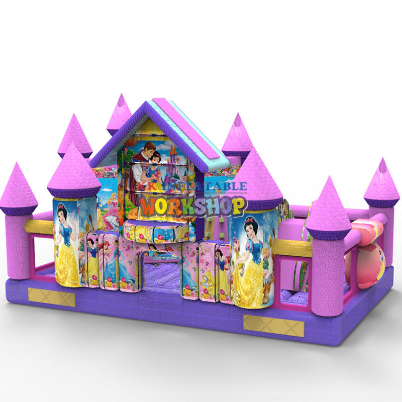 snow white inflatable bouncer castle