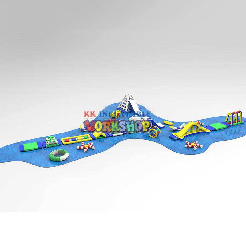 Customized inflatable lake water park