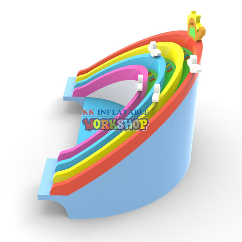 Inflatable Rainbow Water Slide