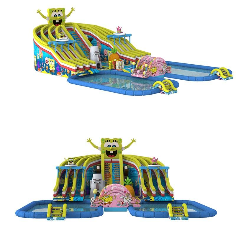 pvc inflatable water parks factory price for children