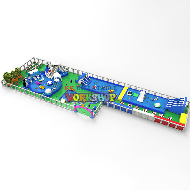 1600m² land inflatable water park