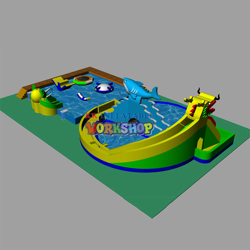 Customization of Large Land Water Paradise
