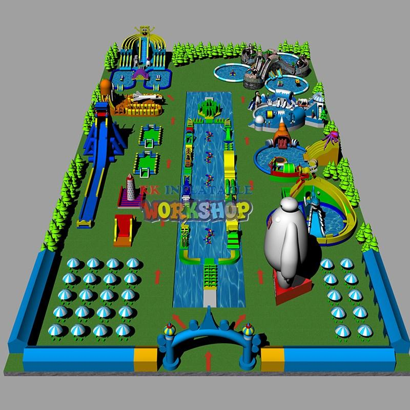 creative design inflatable water parks animal modelling for children