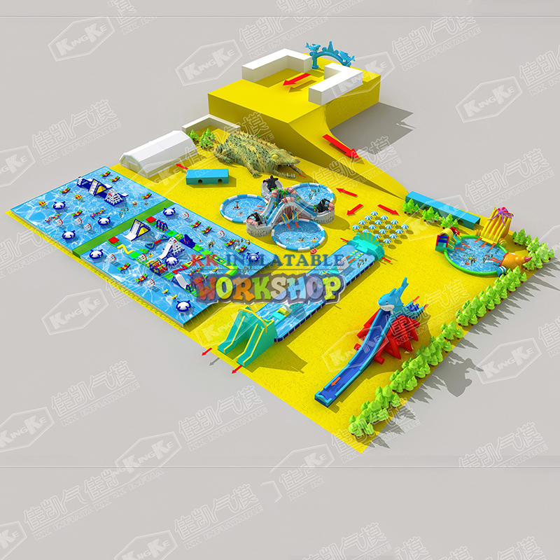 The new land inflatable water park
