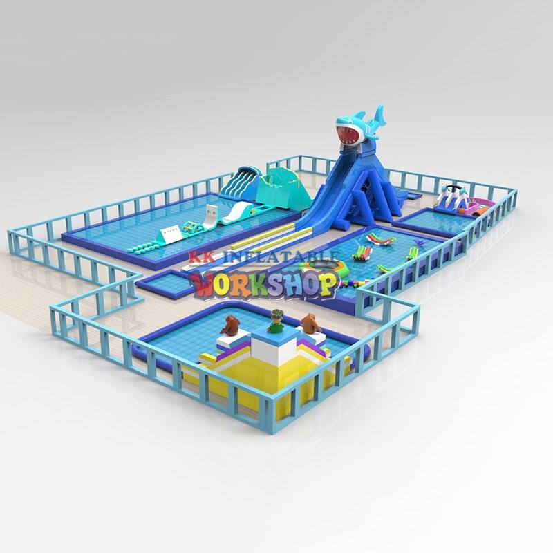 creative design inflatable water playground supplier for amusement park KK INFLATABLE