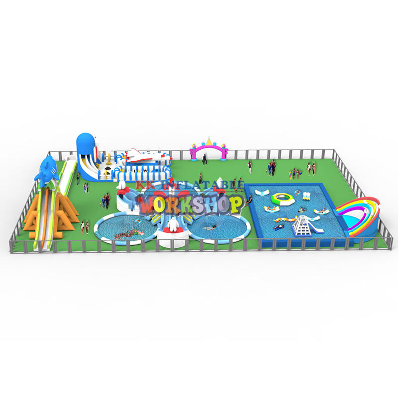 Inflatable Combination Land Water Paradise