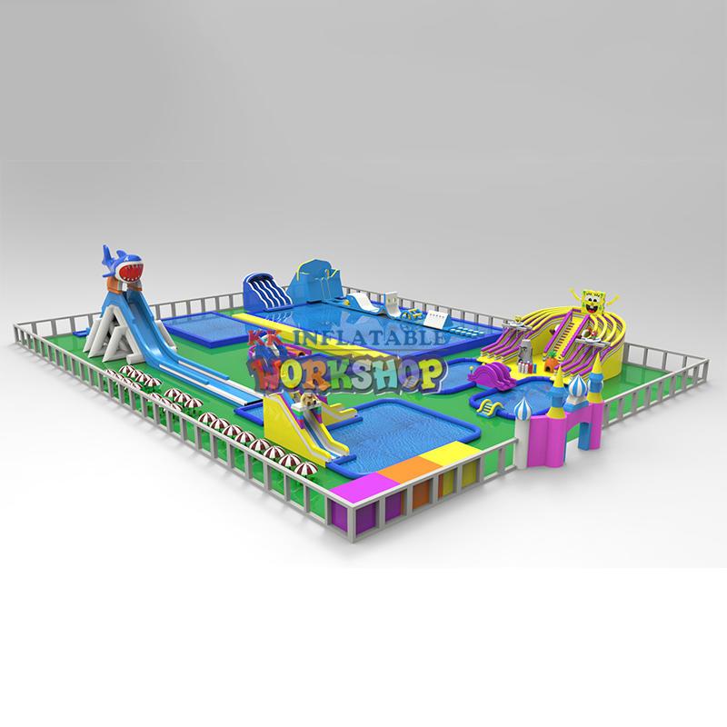 KK INFLATABLE custom kids inflatable water park supplier for paradise
