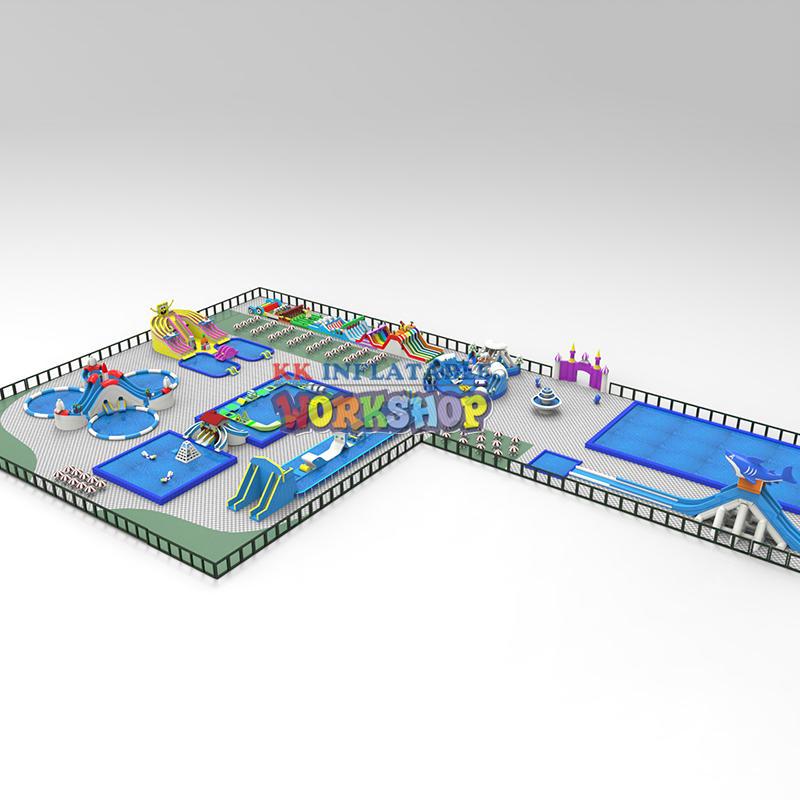 KK INFLATABLE custom inflatable water playground supplier for children