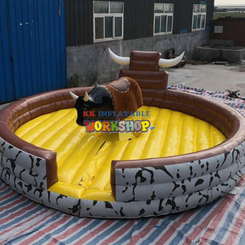 Inflatable rodeo riding bull horse