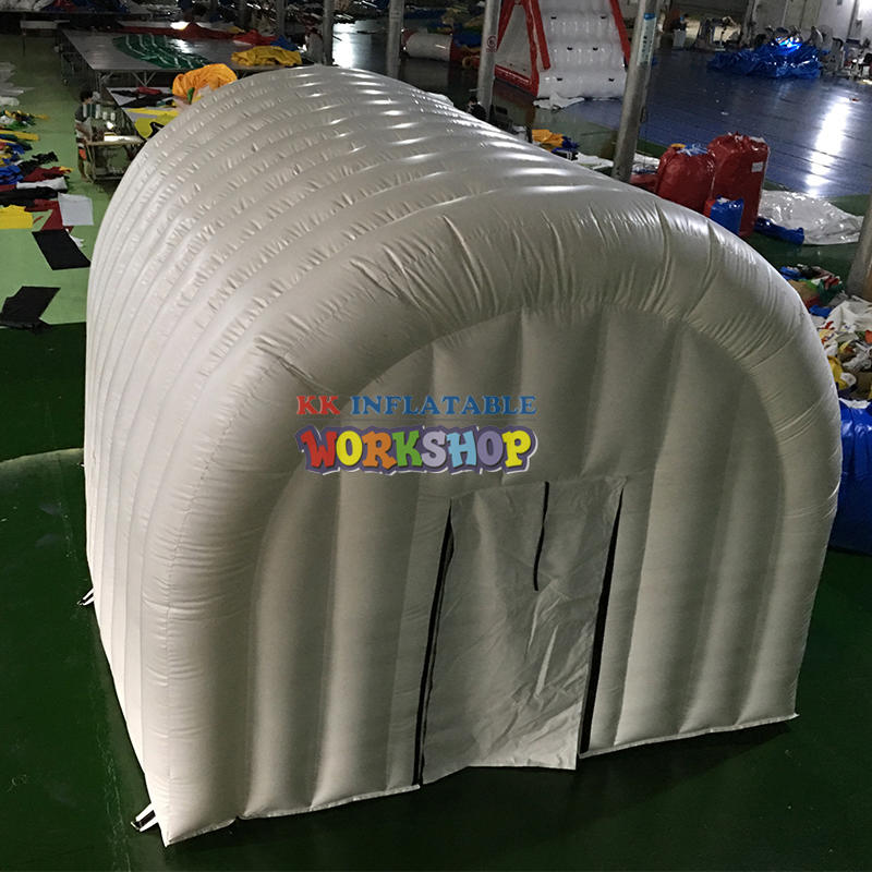 White inflatable arched tent