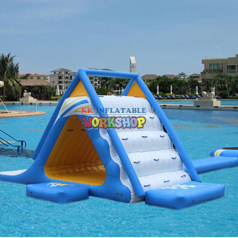 Inflatable water slide tunnel combination