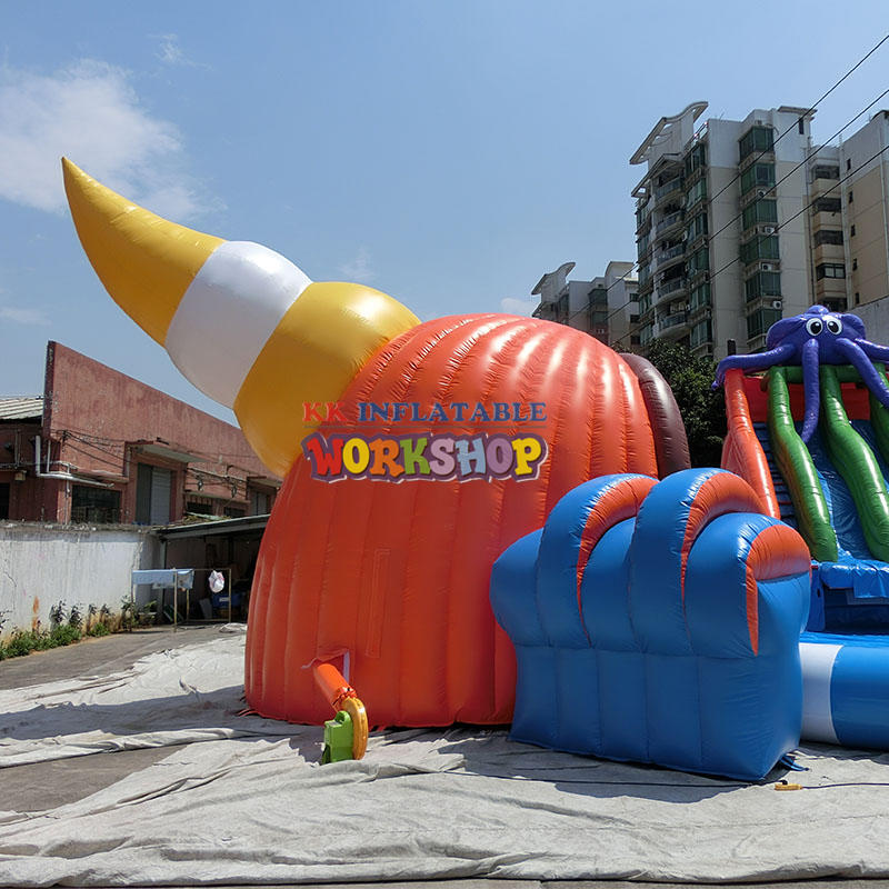 inflatable island water park