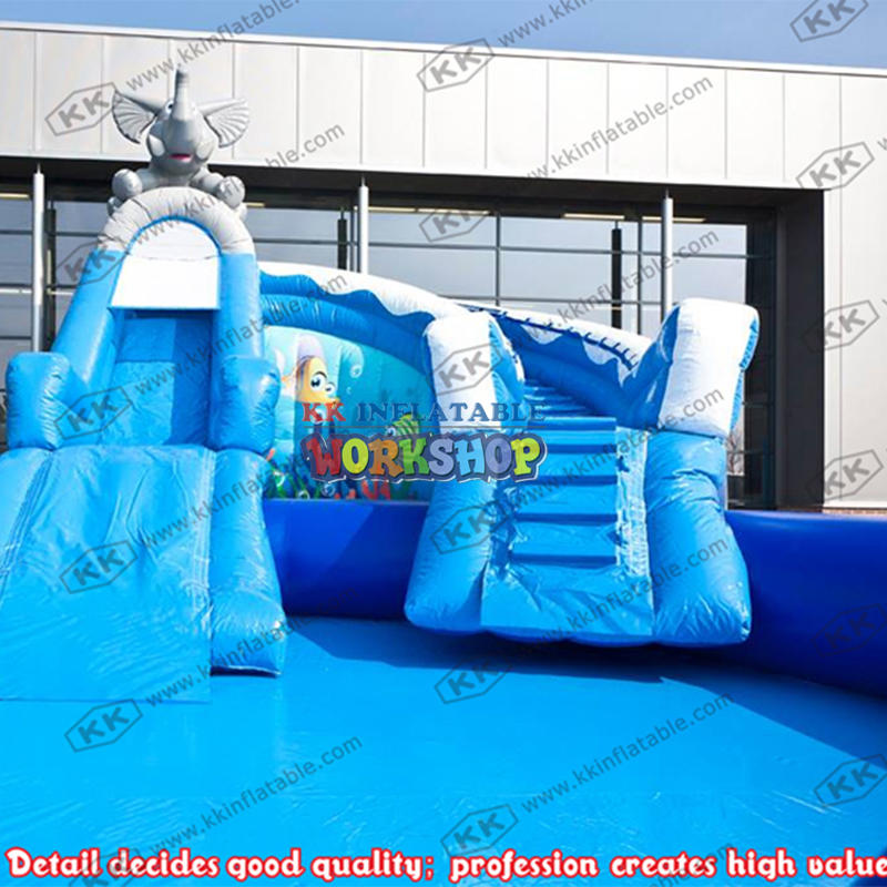 Inflatable pool slide customization