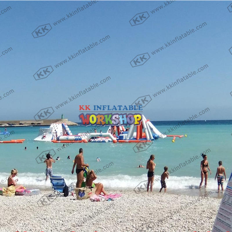 Beach Island Inflatable Water Park