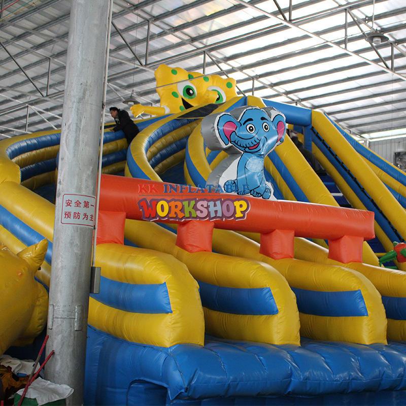 Cartoon inflatable water slide