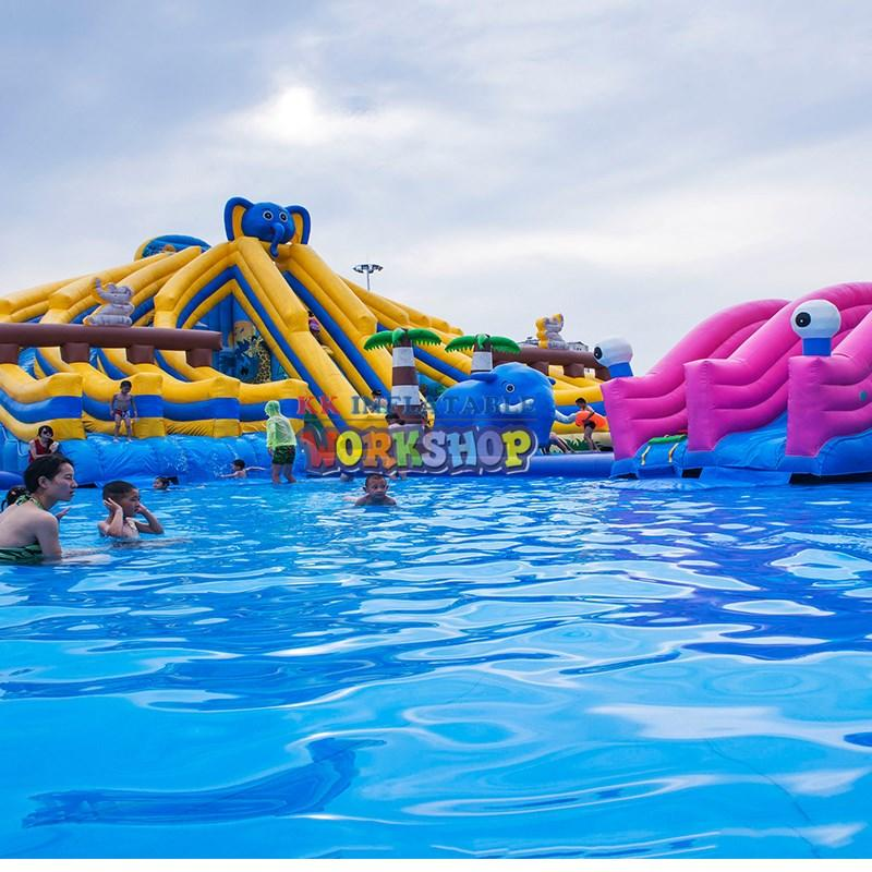 large inflatable water parks supplier for children