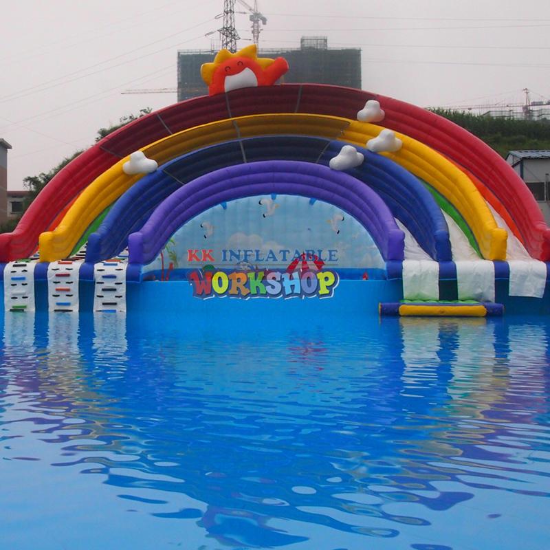 Creative Rainbow Slide Water Park