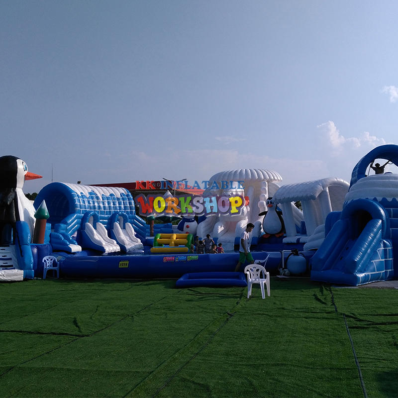 Inflatable water park facility