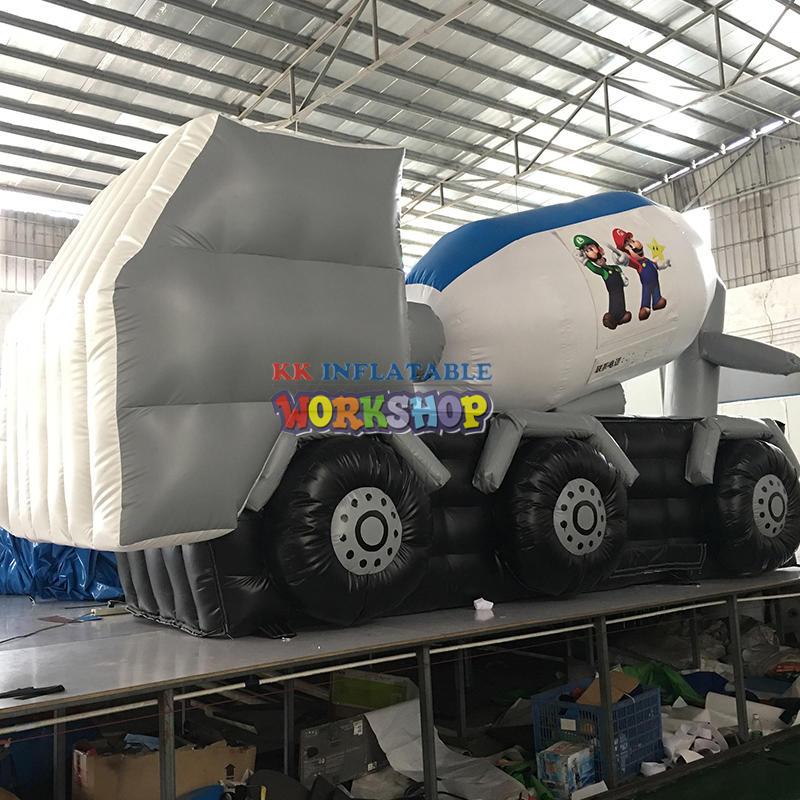 Inflatable car model advertisement