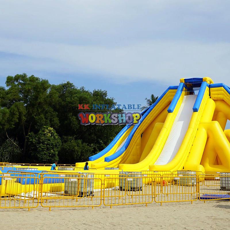 Fun inflatable water slide