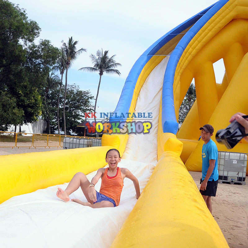 Fun inflatable water slide