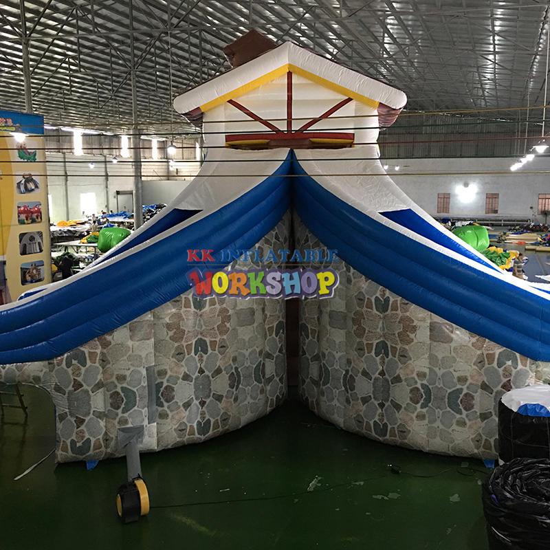 New Design Crazy Flying Double Lane Inflatable Water Slide For Adults