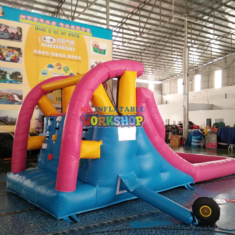 Home Use Backyard Pink&Blue Mini Inflatable Water Pool Slide