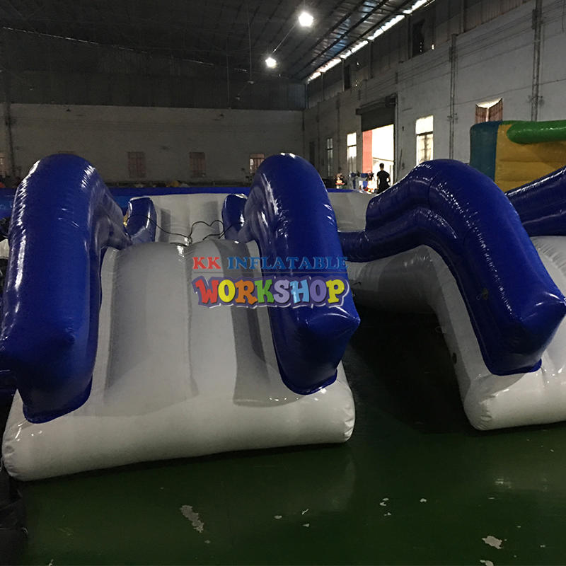 floating inflatable yacht slide water boat dock slide