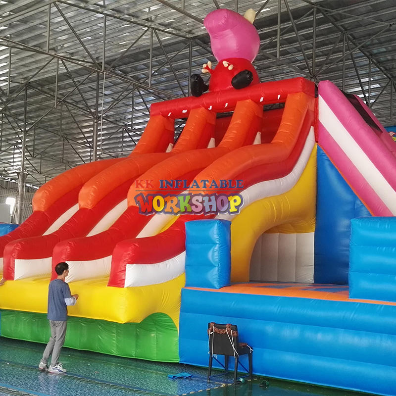 Kids and Adult Water Play Equipment Inflatable Jumping Slides Playground Large Peppa Pig Inflatable Slide For Pool
