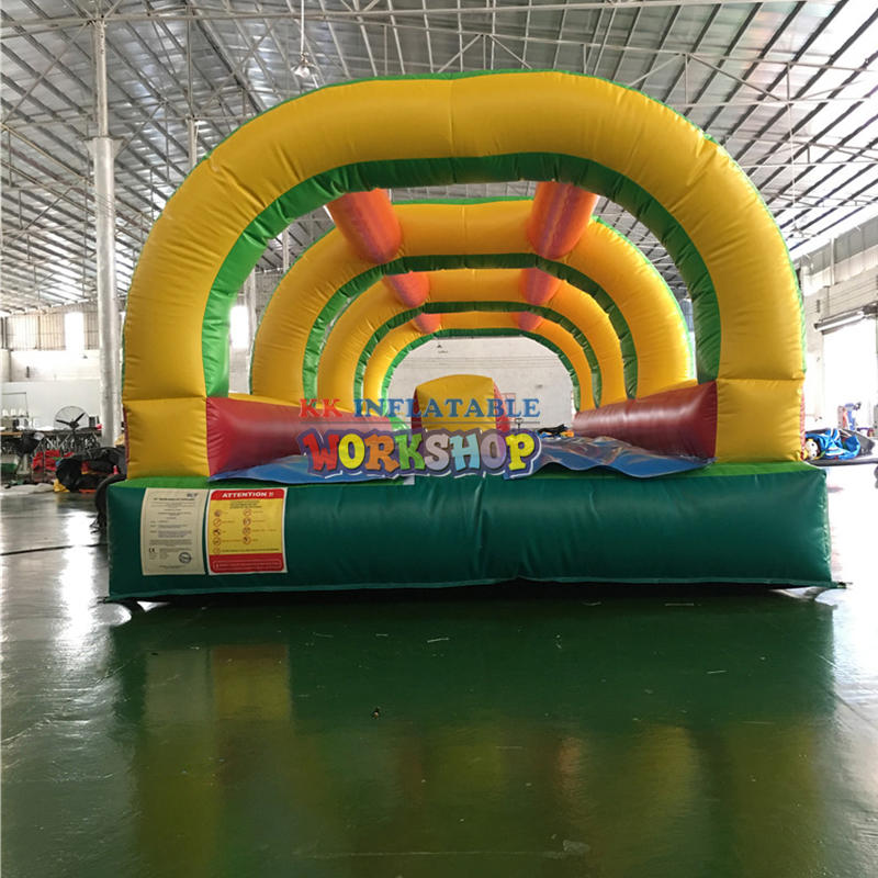 Commercial Home Garden Use inflatable double lane slip n slide with water pool