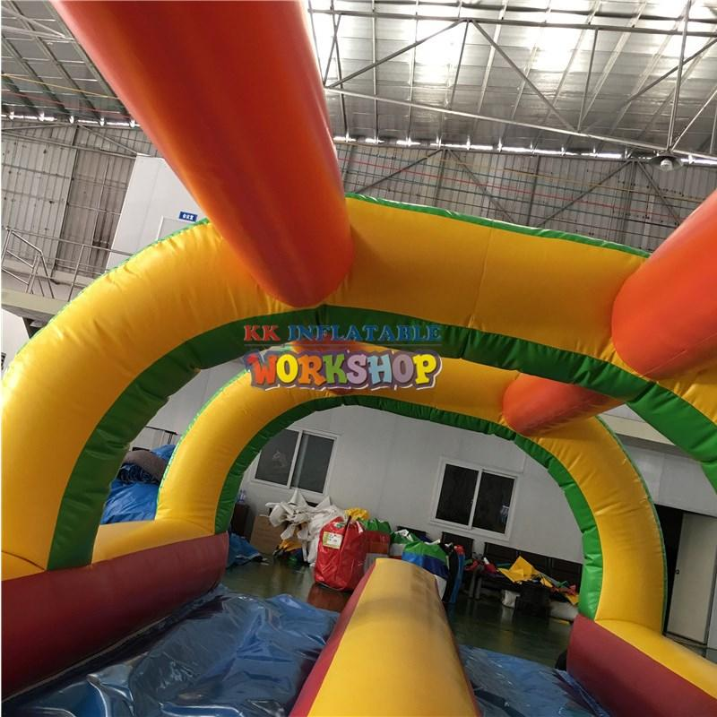 KK INFLATABLE long inflatable water slide for swimming pool