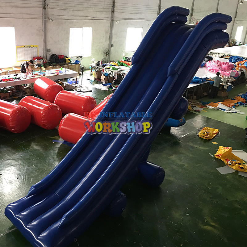 Custom PVC Inflatable Floating Water Yacht Slide / Inflatable Cruise Water Yacht Slide On The Sea