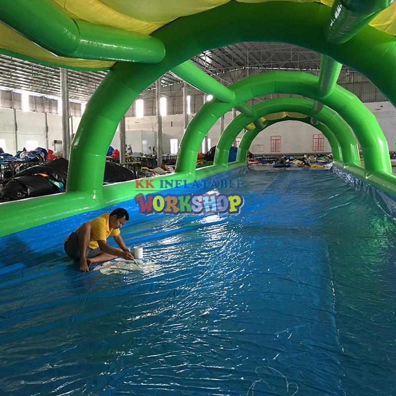 Factory portable single lane Slip n Slide inflatable slide the city inflatable water slides