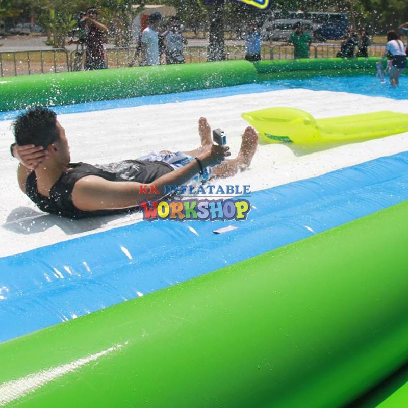 Giant single lane 666 ft slip n slide inflatable slide the city for adult